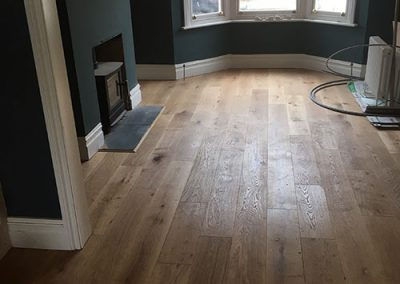 Natural Oak semi-solid flooring